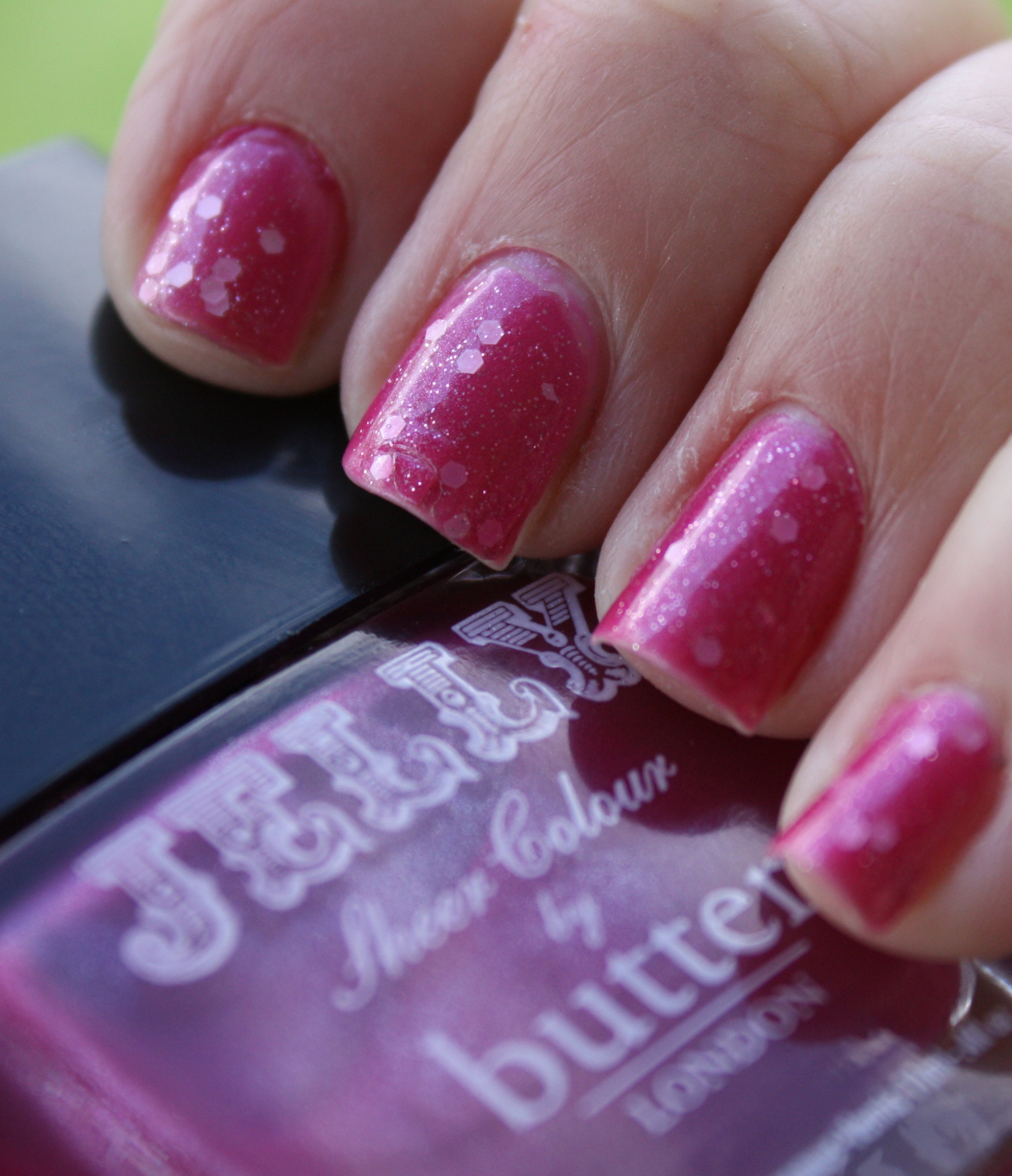 Jelly Sandwich With Butter London and OPI – horrendous color