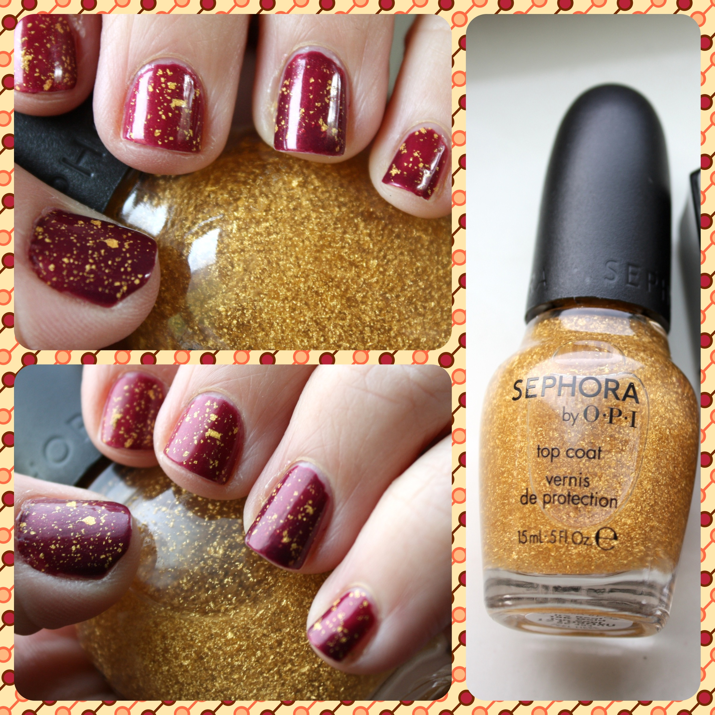 Sephora by OPI It\'s Real 18K Gold Top Coat – horrendous color
