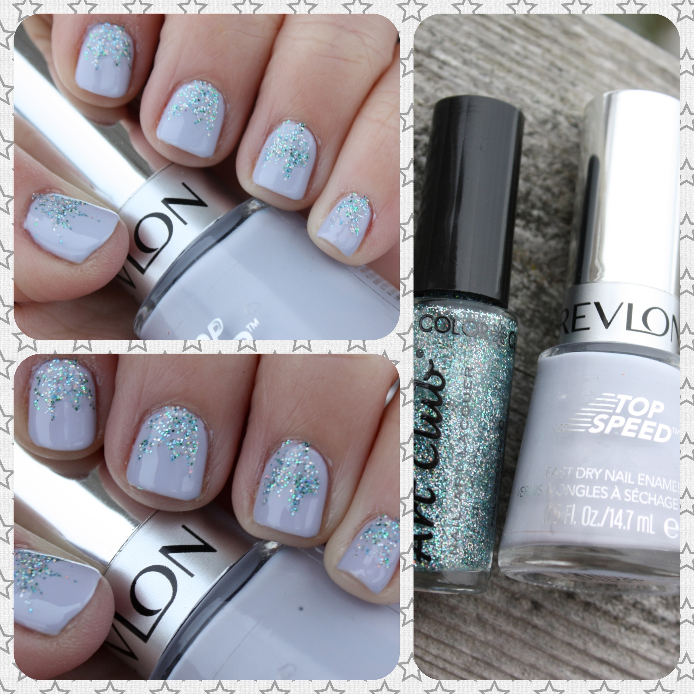Sparkly Manicure with Revlon Cloud and Color Club Blue Hologram ...