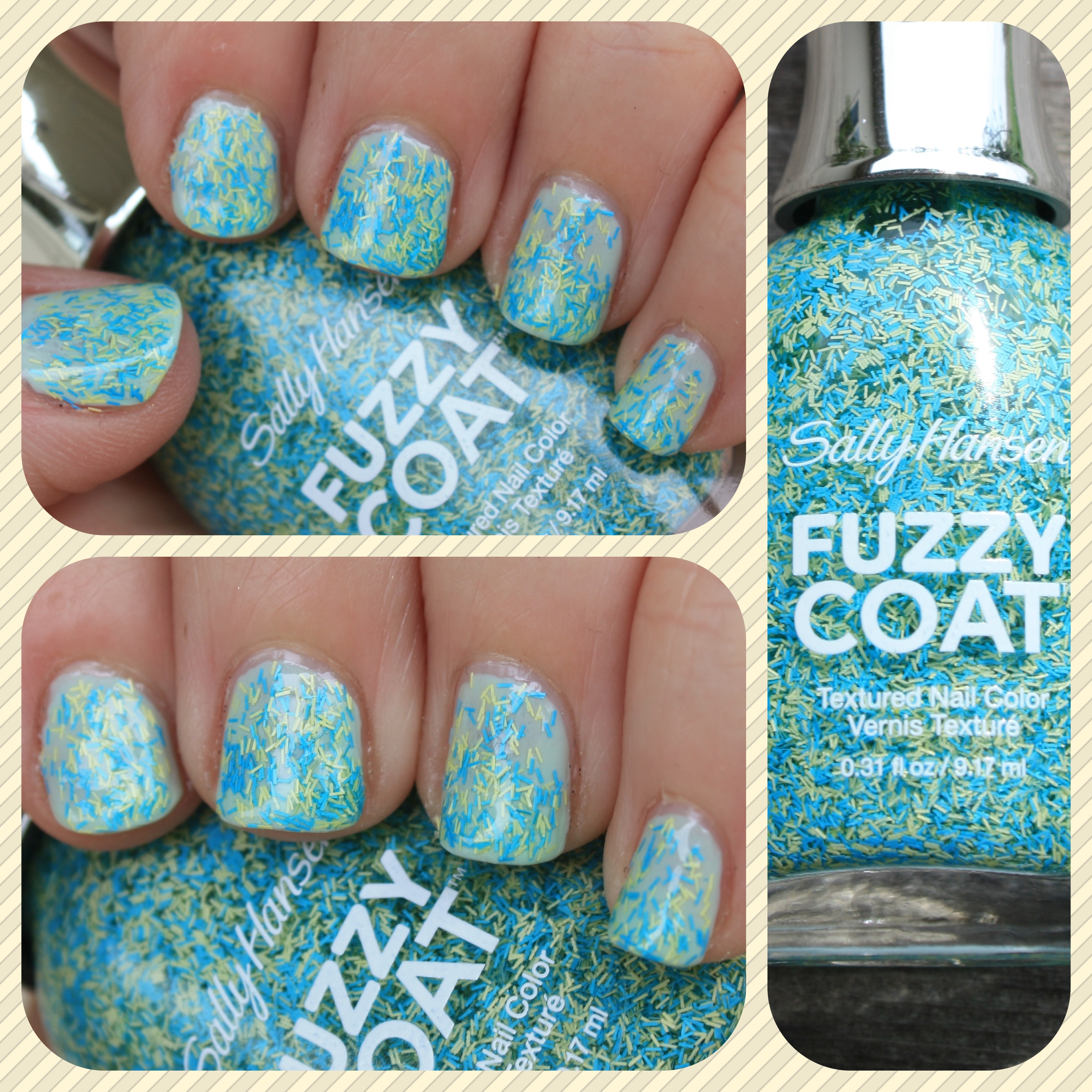 Sally Hansen Fuzzy Coat: Fuzz-Sea – horrendous color