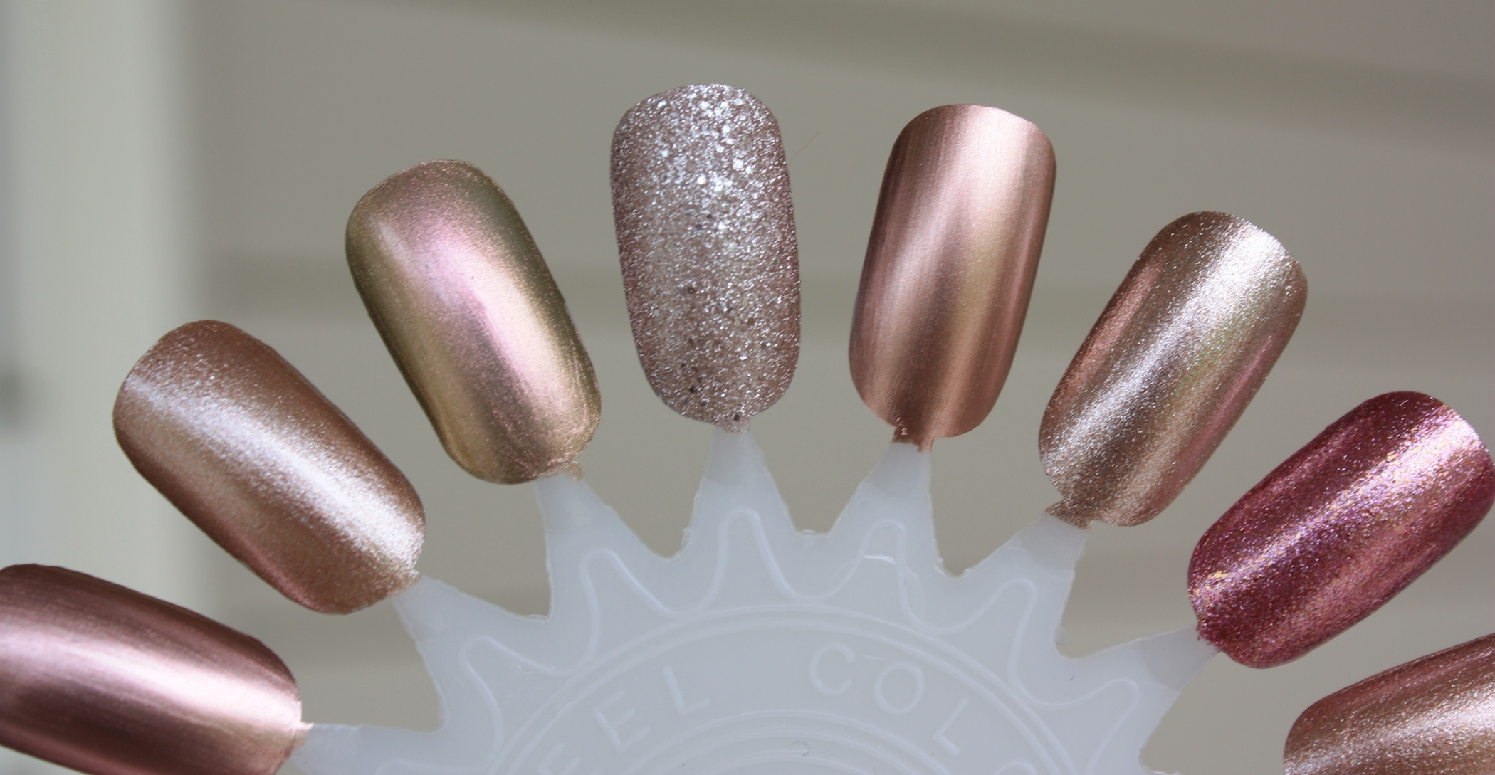 Rose Gold Polish Swatches and Comparisons! – horrendous color