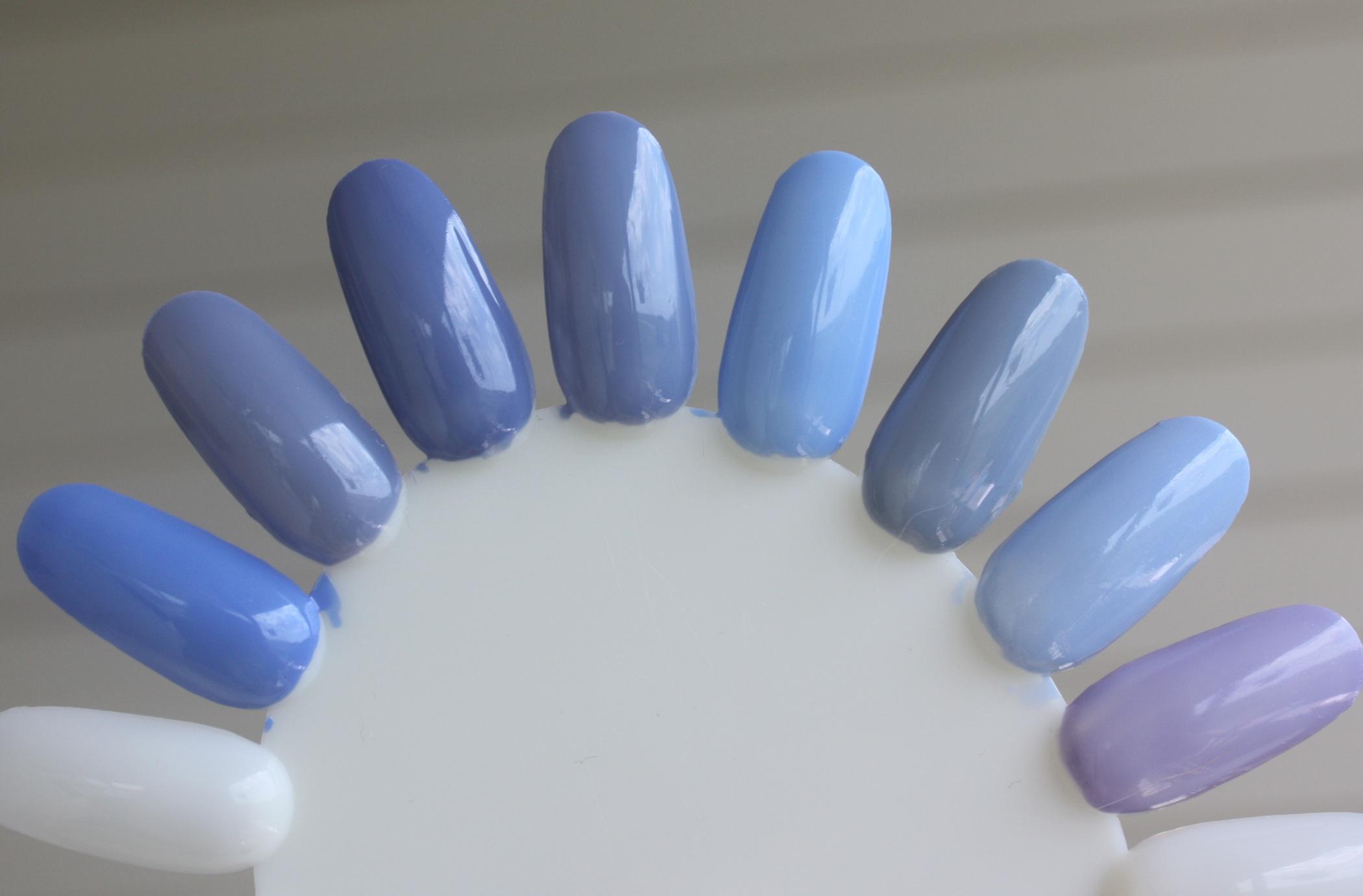 periwinkle nail polish – horrendous color