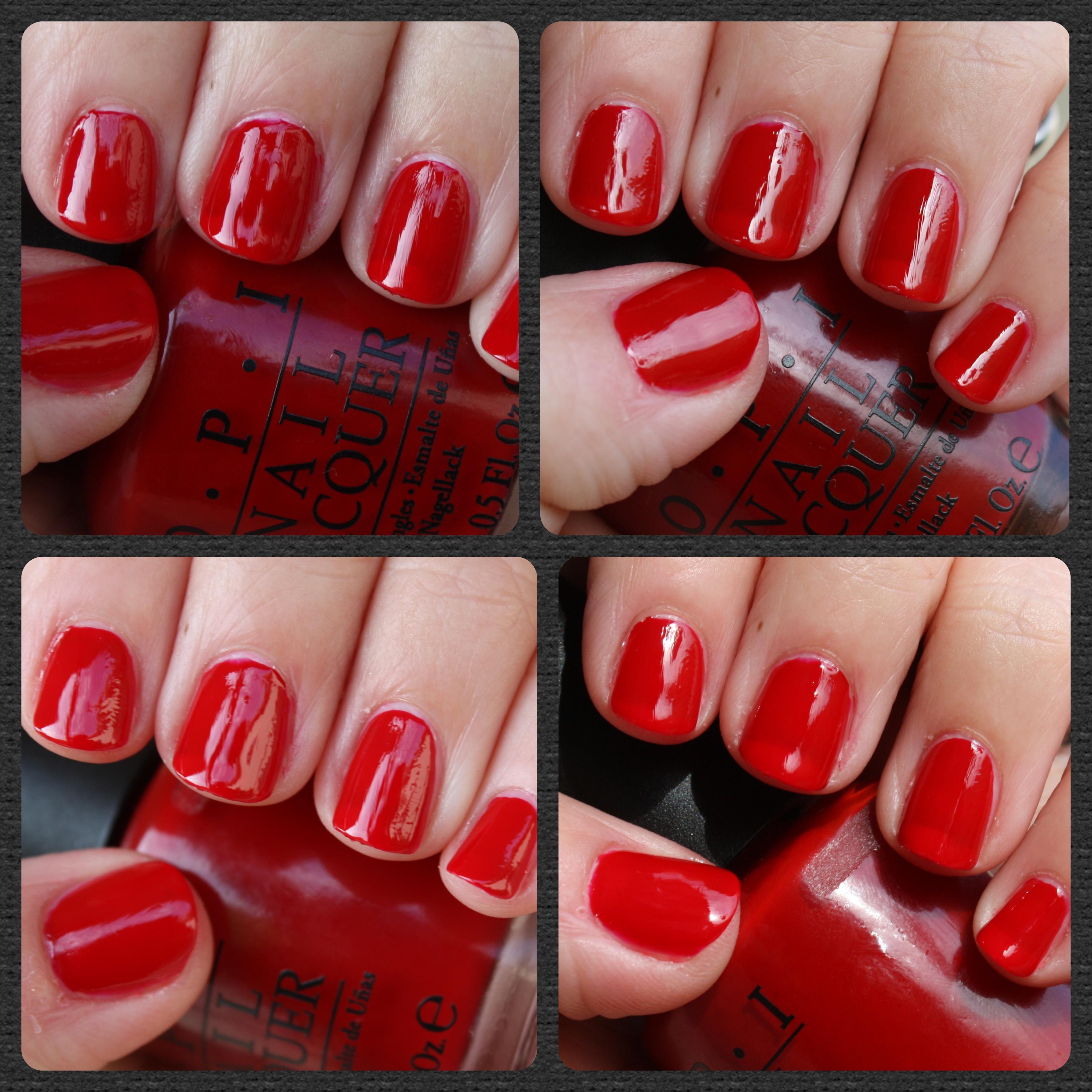 Sexy red nail polish