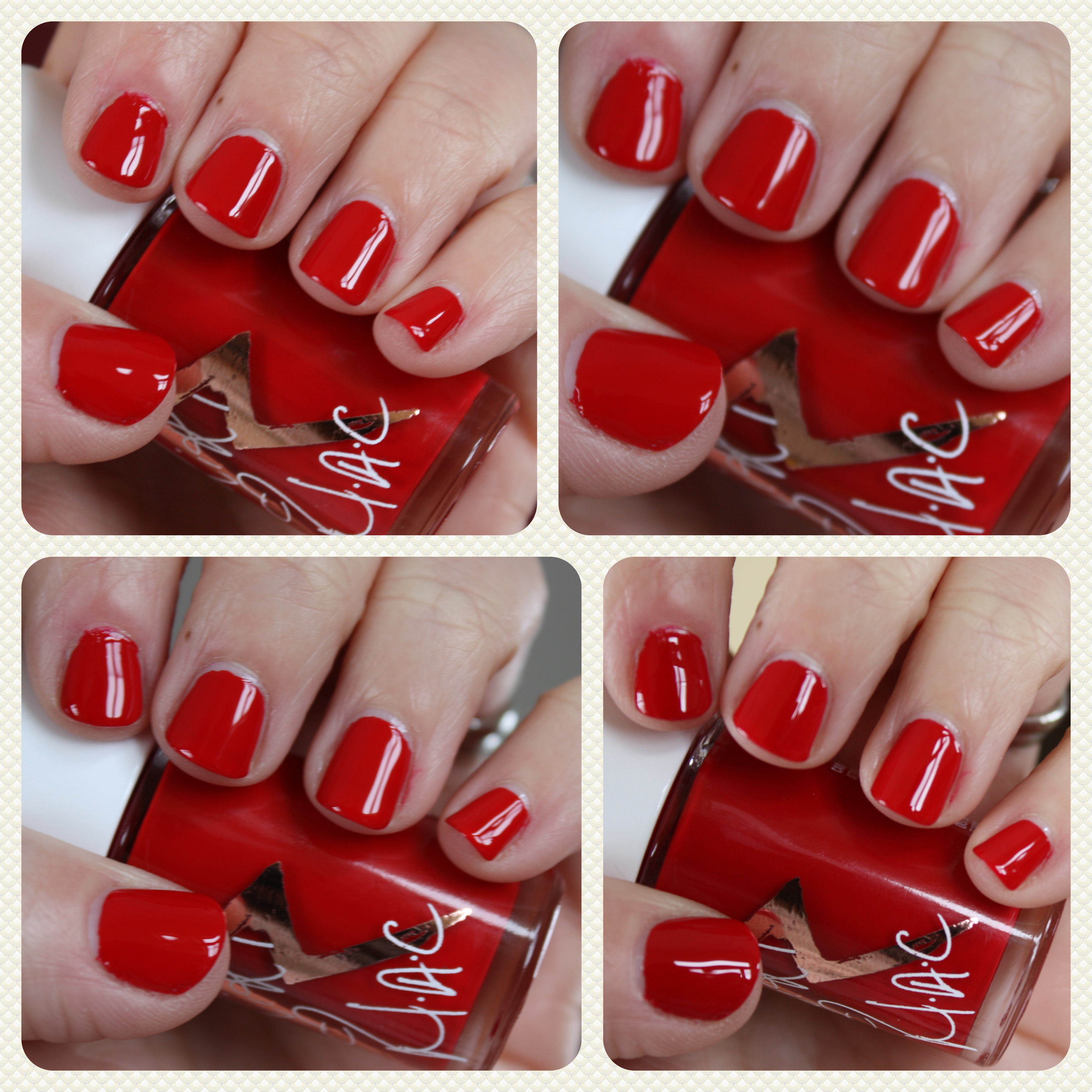 red nail polish – horrendous color