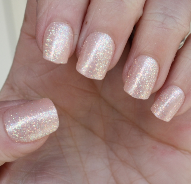 Impress Nails Short Length Shimmer Nails