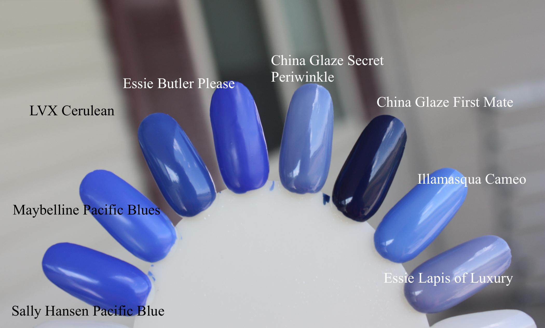 blue nail polish – horrendous color